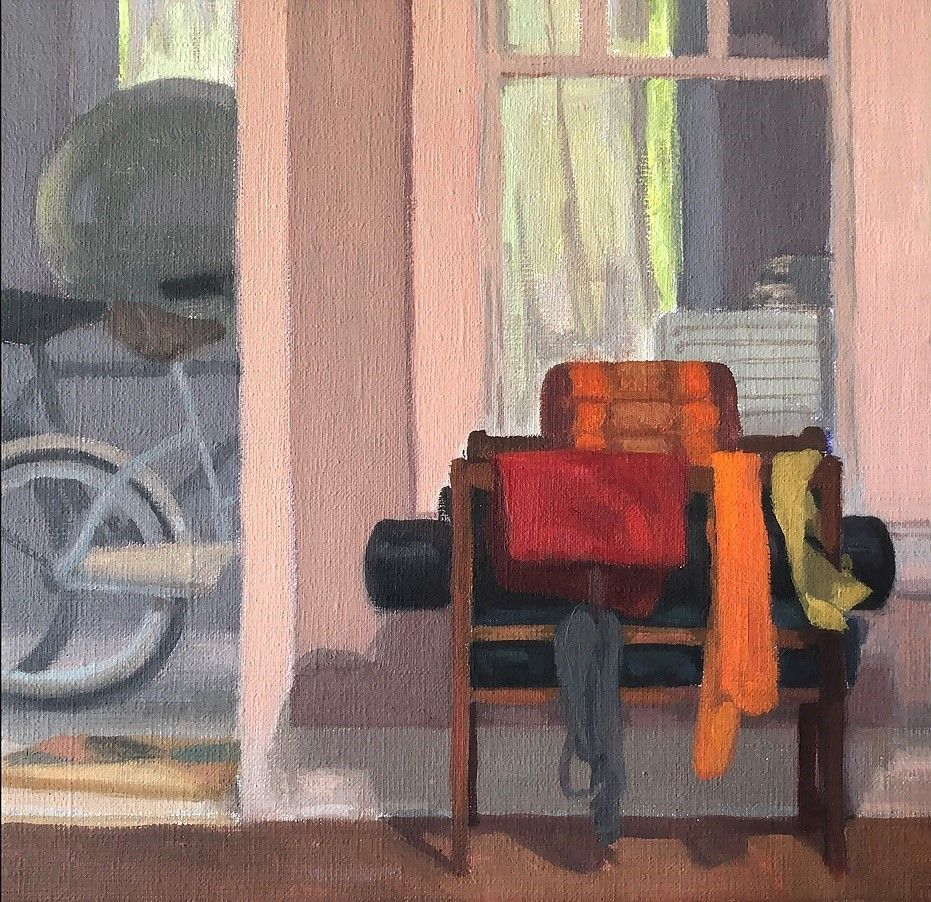 Interior, 2020 Oil on canvas panel.  Courtesy of the Artist.