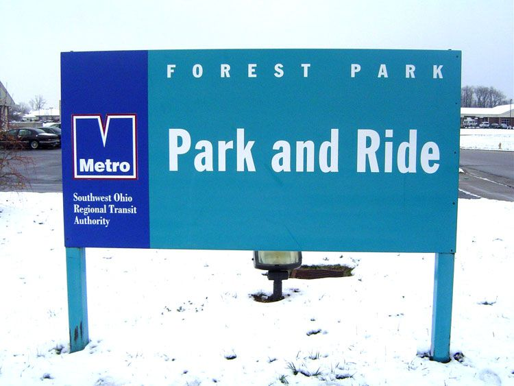 Metro Park and Ride Sign