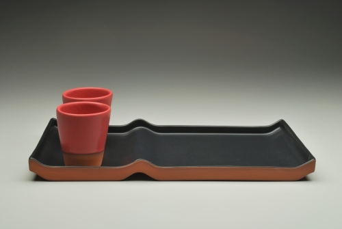 Eshelman, Paul - Double Tray with Ripple Cups - SOLD