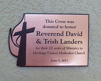 Brushed Metal Engraved Plaque