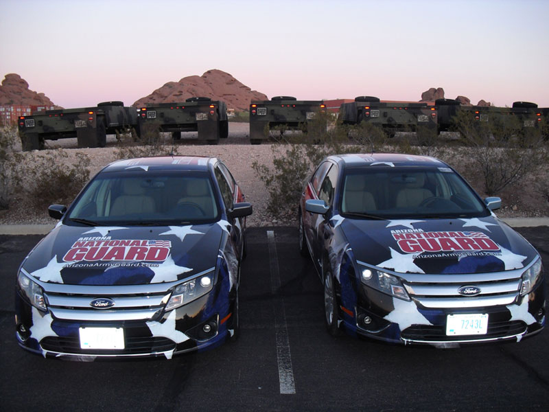 National Guard Cars Wrap