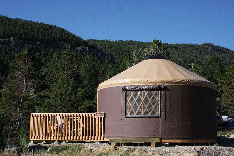 Sinks Canyon State Park : Visitor Info : Camping : Yurts