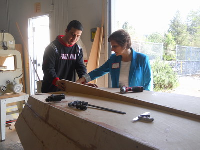 US Congresswoman Suzanne Bonamici at Merlo Station H.S. - April 2015 (click to view)
