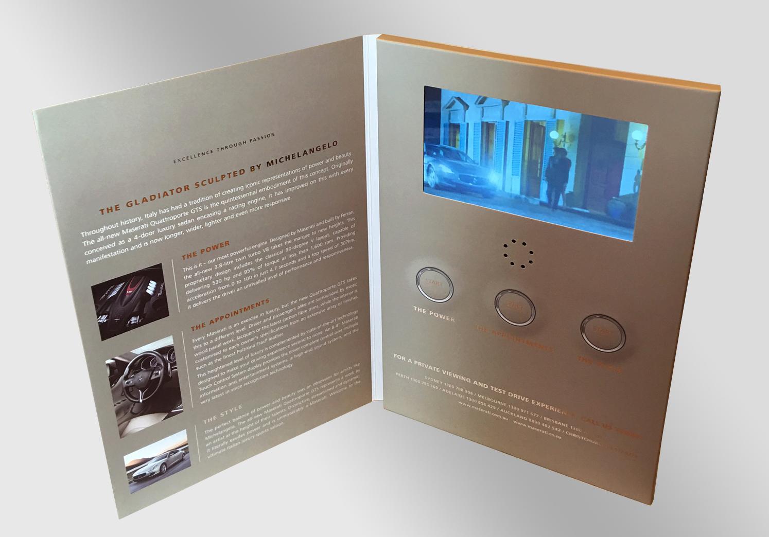 Video Brochure Packaging
