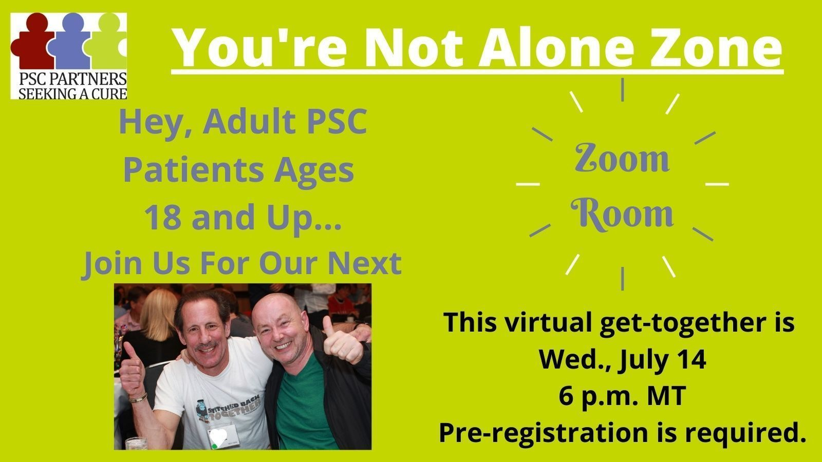 ZoomRoom for Adult PSC Patients Ages 18 and Up