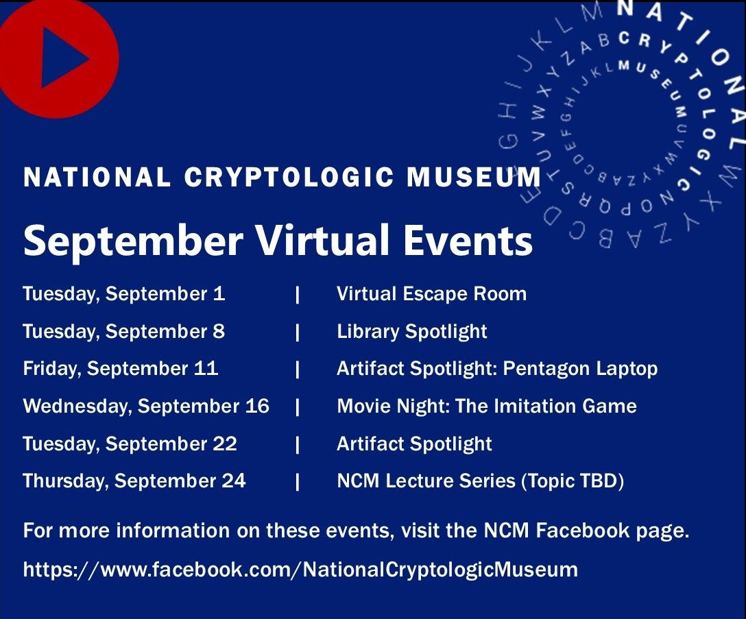 Tune into the Museum's Facebook Page for September Events
