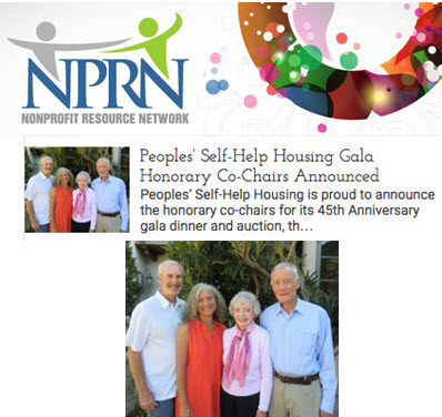 Peoples' Self-Help Housing Gala Honorary Co-Chairs Announced - Nonprofit Resource Network