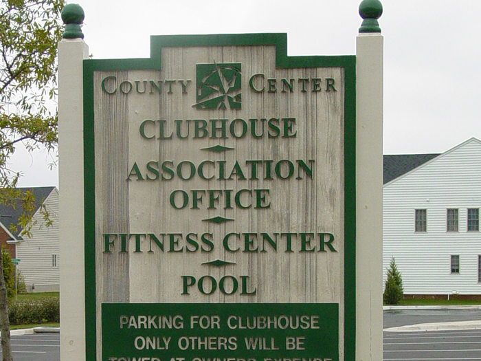 County Center Community Sign