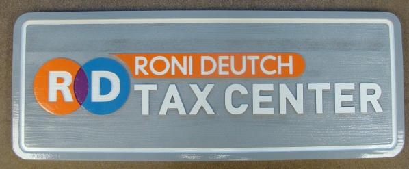 C12052 - Carved Redwood  Tax Center Sign