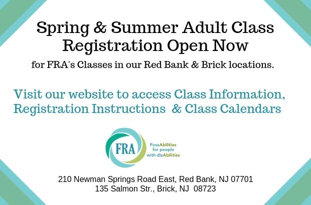 Spring & Summer Adult Class Registration 2019