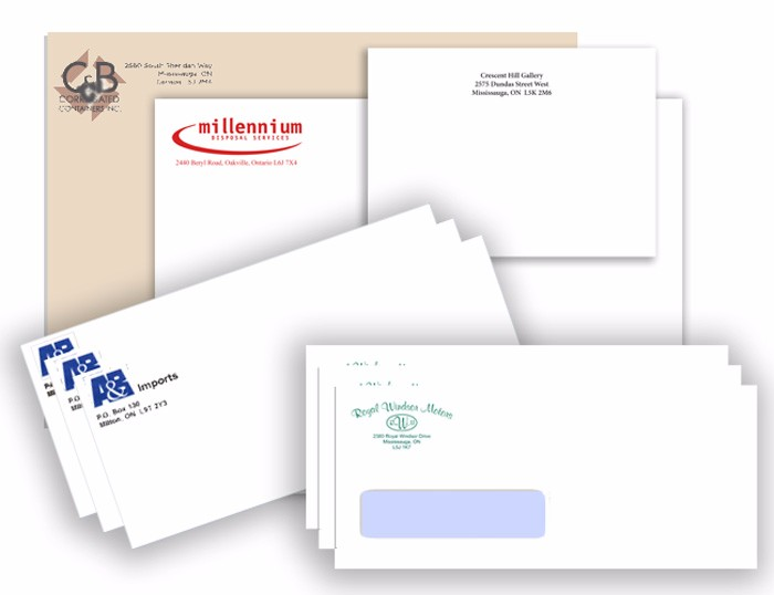 different sized envelopes