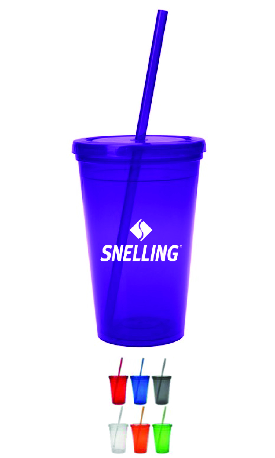 16oz Double Wall Tumbler (Purple)