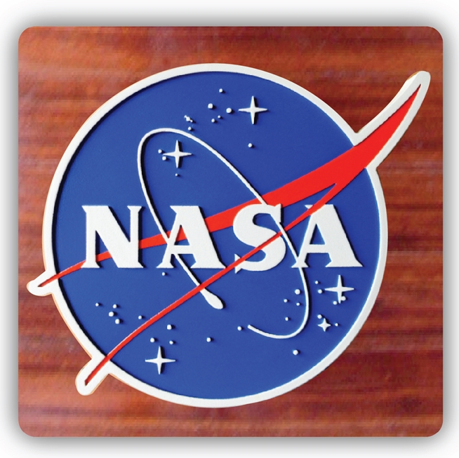 EA-2045 - Logo of the National Aeronautic and Space Administration (NASA) on Mahogany Plaque