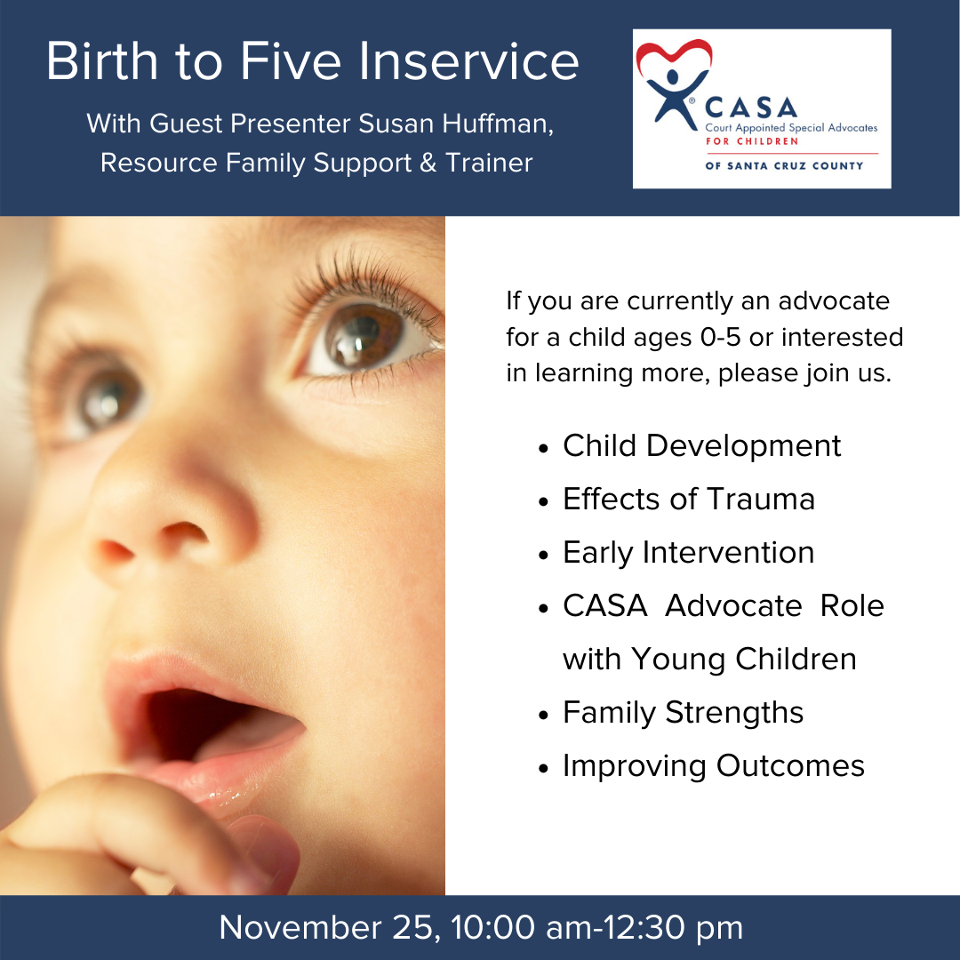 Birth to Five Inservice: Register HERE!