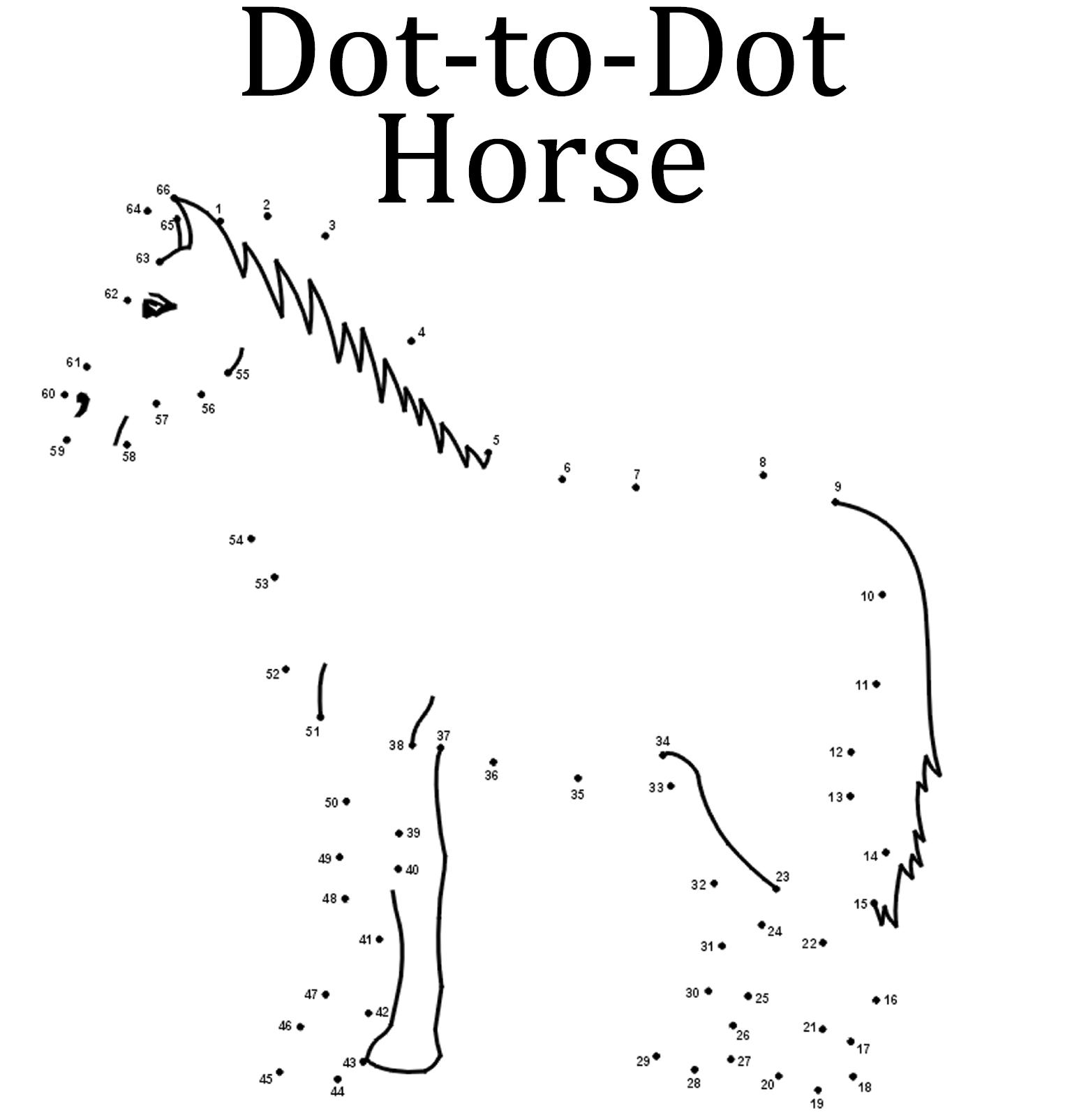 Dot-to-Dot Horse