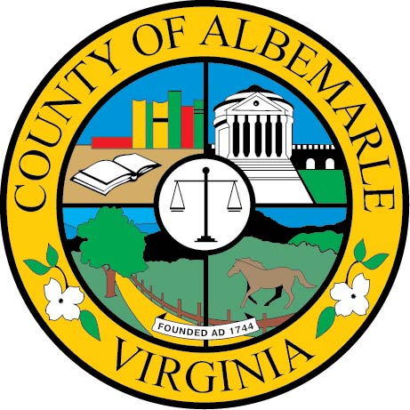 CP-1040 - Carved Plaque of the Seal of the County of Albemarle, Virginia, Artist Painted