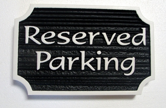 KA20690 - Carved Wood Look HDU Sign for Reserved Parking