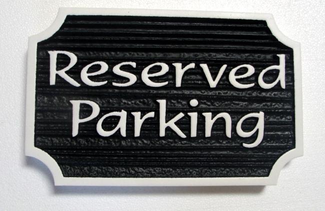 KA20690 - Carved Wood Look HDU Sign for Reserved Parking
