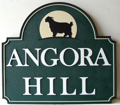 O24420 - Angora Goat Farm Entrance Sign