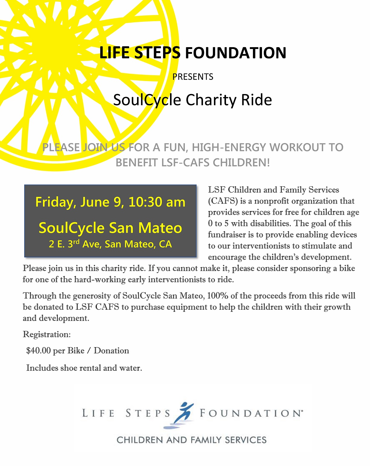 CAFS SoulCycle Charity Ride