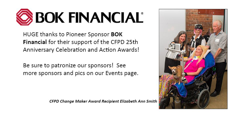 CFPD Sponsor BOK Financial with Awardee Elizabeth Ann Smith