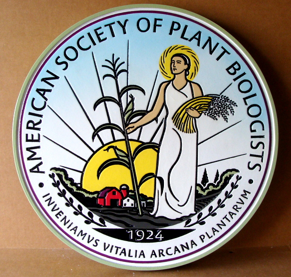 CB5680 - Emblem for Society of Plant Biologists, Engraved Relief