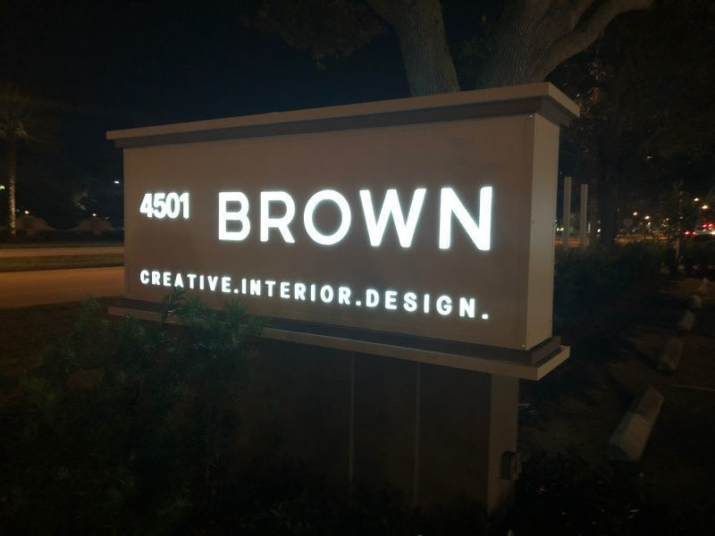 Illuminated Monument Sign upgrade - Sign Partners in Boca Raton - Florida Sign Company