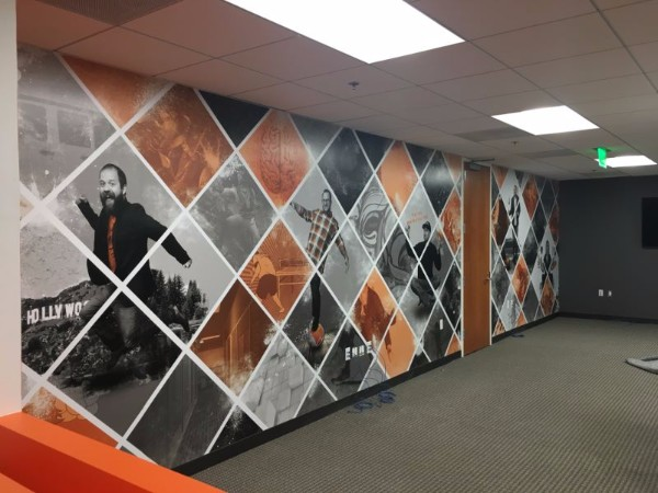 Orange County Software Company Wall Murals New Offices