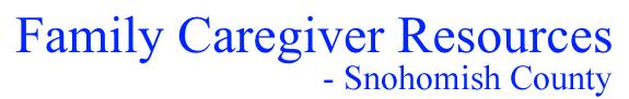 Family Caregiver Resources