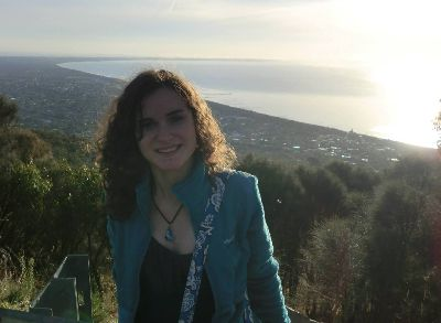 Jessica Chaikof with an ocean view in the background