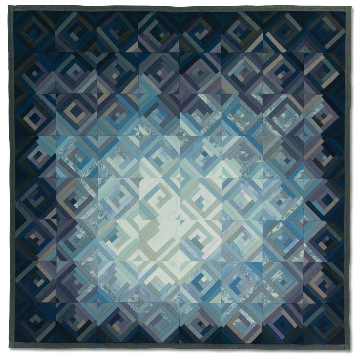 """""""Transition,"""" Nyx (Marie) Lyman, Dated 1975, Made in Portland, Oregon, 64 x 64 inches, IQSCM 2008.014.0001"""