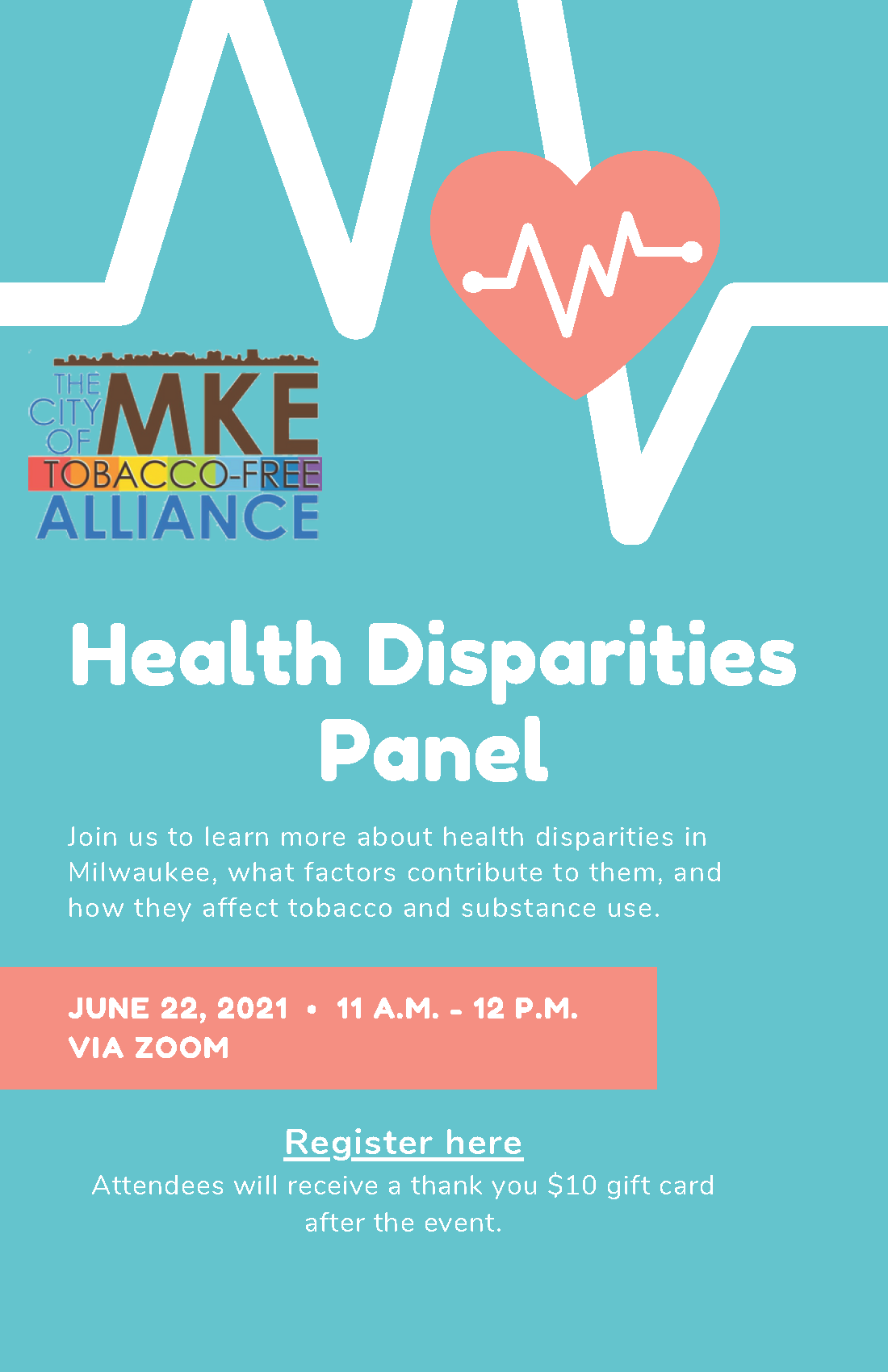 health disparities panel flyer