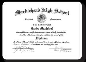 Miniature Diplomas/Certificates