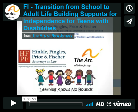 Transition from School to Adult Life Building Supports for Independence for Teens with Disabilities
