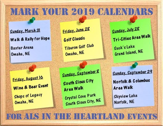 ALS in the Heartland : News & Events : 2019 Event Calendar