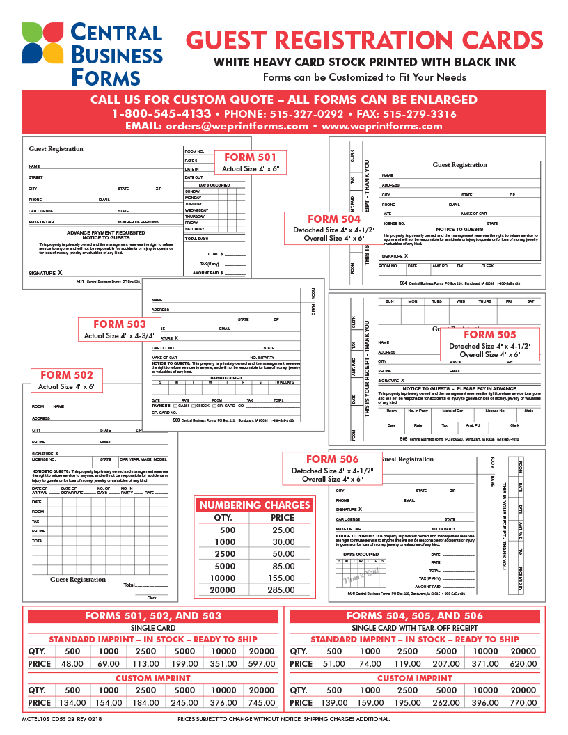 Clive iowa printer custom registration forms cards registration cards thecheapjerseys Choice Image