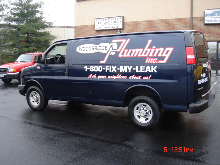 Woodbridge Plumbing Van Graphics