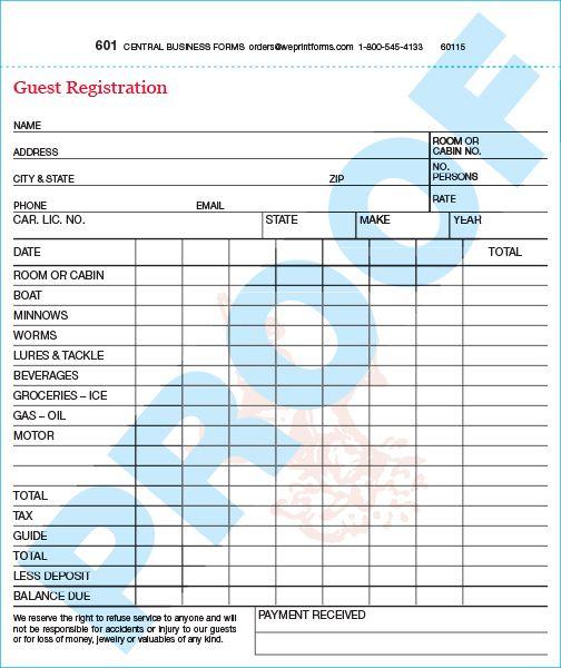 Standard 601 Form