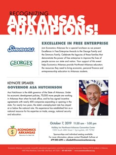 Excellence in Free Enterprise Awards Luncheon Honoring the George Family and the Simmons Family