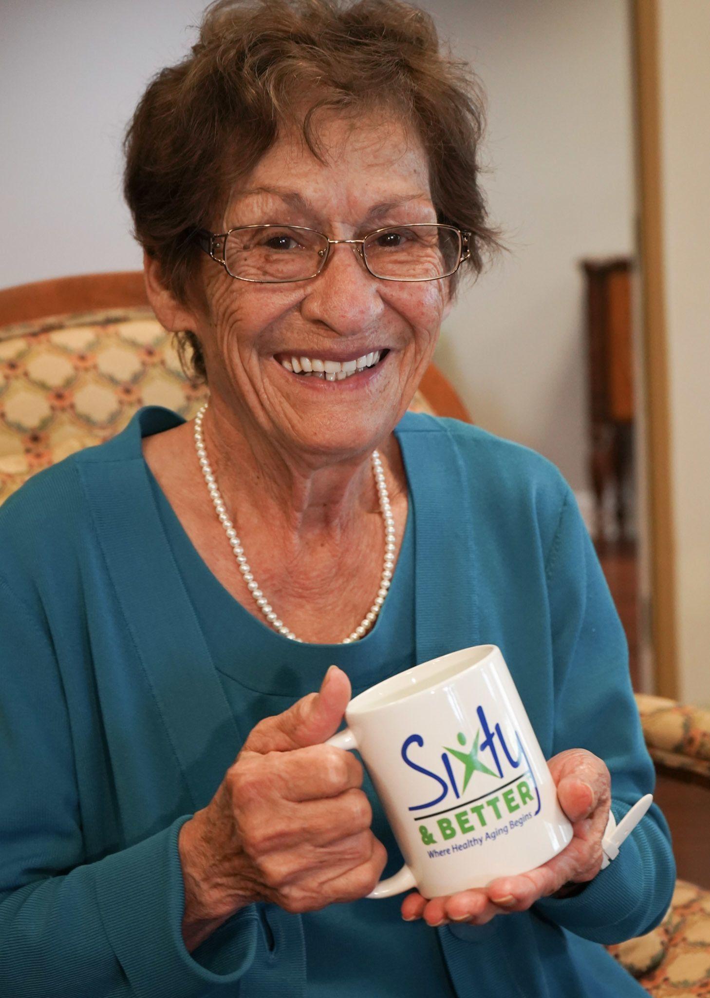 Mary with S&B mug