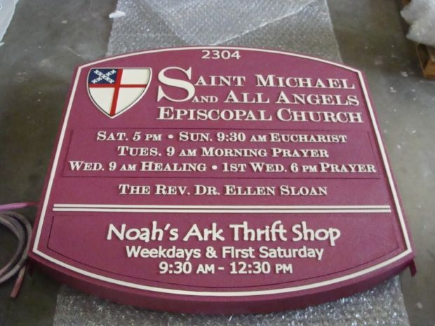 M5158 - Raised Letter Episcopal Church Entrance Sign