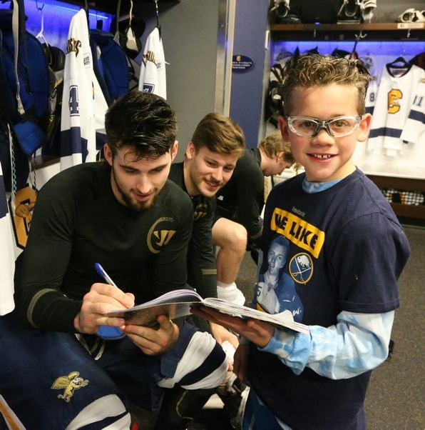 Ten-year-old fan gives Golden Griffins a big lift