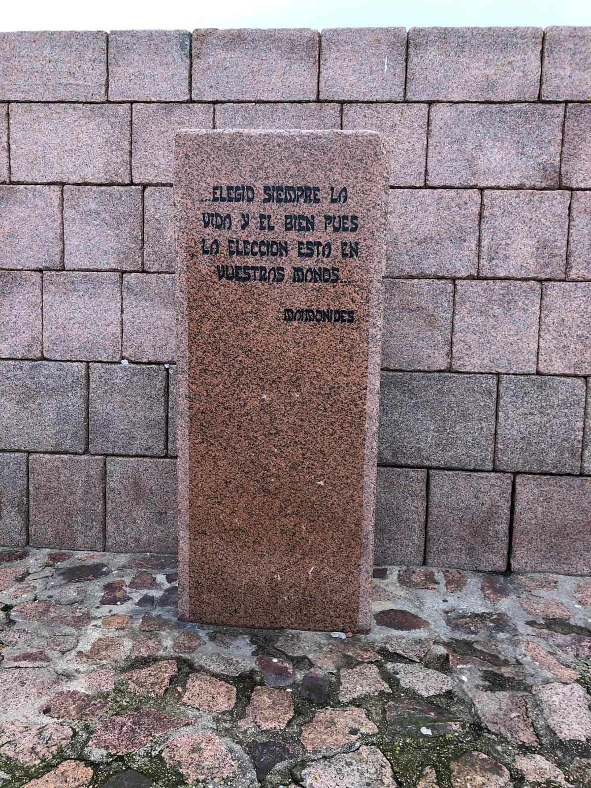 Maimonides Quote Stone