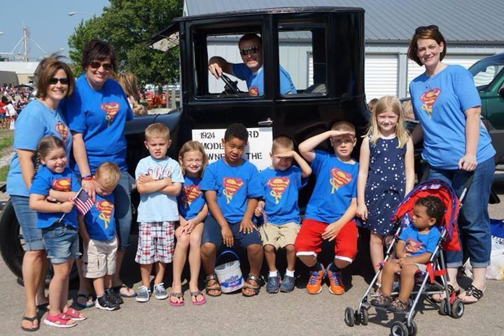 Sammy's Superheroes walked in the Platte Center, NE annual 4th of July parade! #raisingawareness