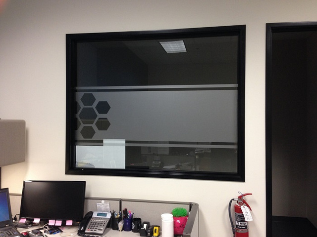 Frosted window graphics for offices in Orange County