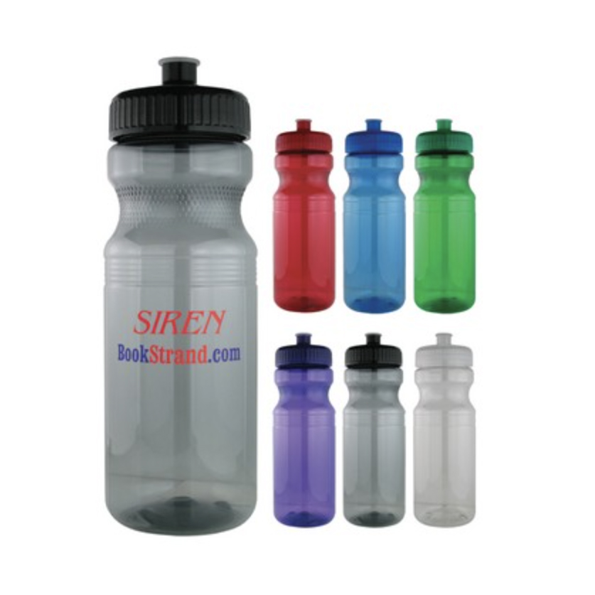 Sports Bottle - 24 Oz Plastic Fitness Water Bike Bottle (Purple)