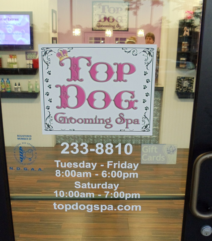 Top Dog Door Lettering