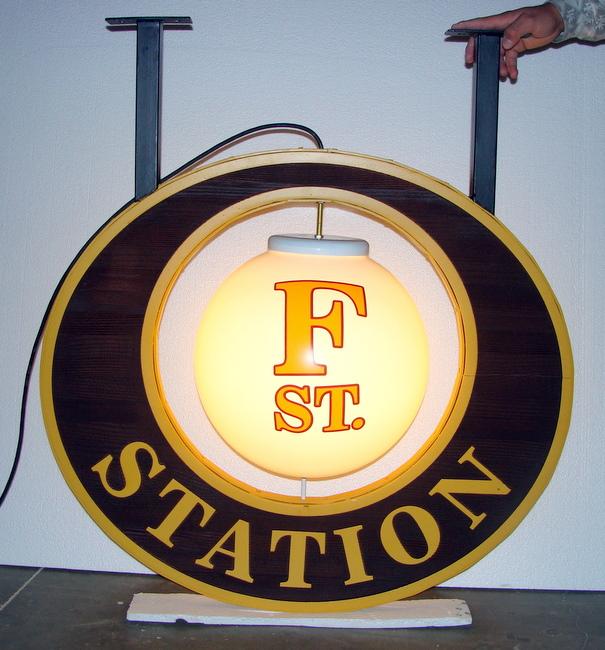 Q25042 - Round Illuminated Restaurant Sign