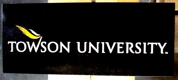 FA15542 -  Carved High-Density-Urethane (HDU) Entrance Sign for Towson University