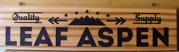 SA28767 - Carved Cedar Wood Sign for Wood Products Supply Store
